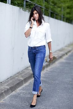A French Way To Wear A Button-Down by Le Fashion  #Bracelets, #BUTTONDOWNSHIRT, #CASUALCHIC, #Denim, #EDITORSTYLE, #EMMANUELLEALT, #FashionWeek, #Heels, #Jewelry, #Minimal, #Moda, #SPRINGSUMMERINSPIRATION, #StreetStyle