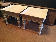 Gorgeous End Tables Refinished In Superior Paint Co. Antique White Kelowna, Okanagan