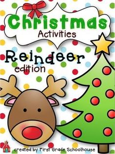 "The packet includes: 1. What I Know About Reindeer – write information about a reindeer {can include non-fiction writing and how reindeer are depicted during the Christmas holiday}. 2. Let's put Santa's reindeer in ABC order! 3. Reindeer Craftivity 4. Let me tell you about my pet reindeer! 5. I saw one of Santa's reindeer! – write about what you saw Santa's reindeer do ""first, then, and last"". 6. Let's find reindeer words!"