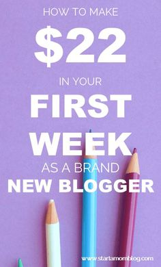 In her first week Megan made $22 with her blog! How awesome! She started a blog in a few days and made money by blogging. Such good practical advice for beginning bloggers! Copy her tips on how to make money with a new blog!
