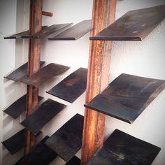 Étagère à chaussures industrielles par StahlmanufakturWind sur Etsy