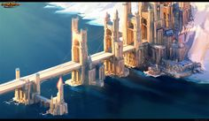 fantasy city concept art | Well, that's a fair sized dump. I'll go and check if I have some more ...