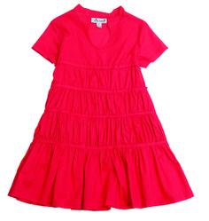 Cecily Tier Dress, poppy