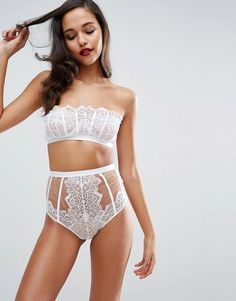 ASOS Cody Embroidered Lace Underwire Bra and Pant Set