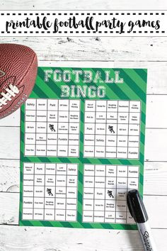 If you are hosting a football party, you will love this free printable football bingo game from Everyday Party Magazine! #FootballBingo #SuperBowlParty #SuperBowlBingo #PartyGames