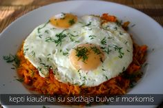 eggs with carrots and sweet potato