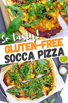 HurrytheFoodUp brings you this healthy, vegetarian recipe for gluten-free socca pizza made with chickpea (besan) flour. It's loaded with plant-based protein, easy to make and a delicious low-calorie treat! It's an easy to follow recipe that can be topped with your favourite toppings! #pizza #glutenfree #soccapizza #vegetarian #recipe #dinner #lunch #pizza #quickmeal Socca Pizza, Vegan Vegetarian, Vegetarian Recipes, Onion Relish, Plant Based Protein, Veggie Recipes, Grain Free, Gluten Free, Favorite Recipes