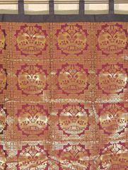 "Claret Elephant Pair Brocade Curtain - Stylish Lined Indian Window Panel 82"""