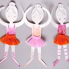 Ballerina Paper Dolls with template!!  P will adore these!!!!