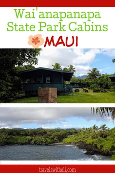 Wai'anapanapa State Park Cabins - Maui, Hawaii - Did you know that there is an affordable place to stay in Hana? Wai'anapanapa state park cabins are the perfect accommodations right in the state park in Hana, Hawaii. Hawaii Vacation Tips, Hawaii Honeymoon, Maui Hawaii, Vacation Destinations, Beach Vacations, Maui Travel, Travel Usa, State Park Cabins, Travel Activities