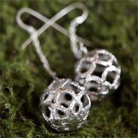 Sterling tatted earrings by KajsJewelry.com