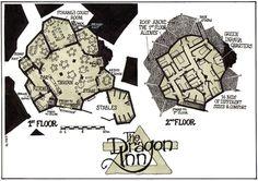 The Dragon Inn (2010) publié dans Sartar Companion - Photo de 02-Mes dessins publiés (c) Eric Vanel - La Terre et le Feu
