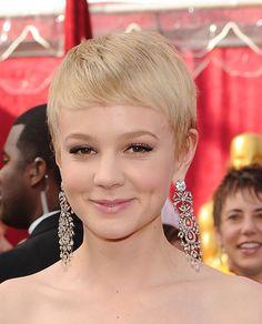 Carey Mulligan Short Side Part - Short Hairstyles Lookbook - StyleBistro