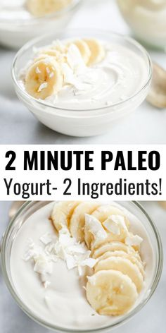 Healthy cashew yogurt ready in just minutes! This creamy paleo yogurt is perfect served for breakfast with fruit. Made with just three ingredients! Paleo Yogurt, Cashew Yogurt, Dairy Free Yogurt, Yogurt Recipes, Paleo Fruit, Vegetarian Diets, Dairy Free Cheese, Diet Desserts, Gastronomia