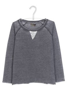 Sweat ample Gris Chine Fantaisie by BIZZBEE