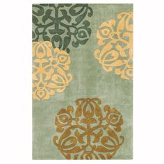 Home Decorators Collection Chadwick Light Green/Gold 9 ft. x 12 ft. Area Rug - 0006125310 - The Home Depot