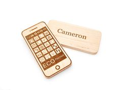 Personalized Phone Toy - Smart Phone Toy - Wooden Toy - Eco Friendly Imagination Toy - Pretend Play for Babies, Toddlers, and Preschoolers