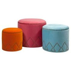 I want these just because they share my name...3-Piece Michelle Ottoman Set