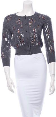 Oscar de la Renta Embellished Cashmere Cardigan - Shop for women's Cardigan