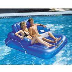 Overton's : Swimline KickBack Double Adjustable Lounger - Watersports > Lake & Pool Leisure > Floats & Lounges : Swimming Pool Lounges, Pool Floats, Pool Chairs, Rafts