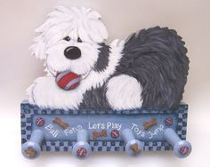 Shaggydog Creations, Old english Sheepdog Chien Bobtail, Tole Decorative Paintings, Bearded Collie, Old English Sheepdog, Perler Patterns, Do It Yourself Projects, My Best Friend, Dog Cat, Crafts For Kids