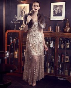 Woman & Art: Cinderella Beaded Dress  From Collection 8 - a bea...