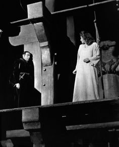 """twolionss: """" Sir Cedric Hardwicke (Jehan Frollo) and Maureen O' Hara (Esmeralda) from the 1939 version of """"The Hunchback of Notre-Dame"""" """""""