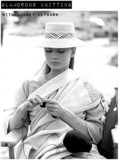 audrey knitting