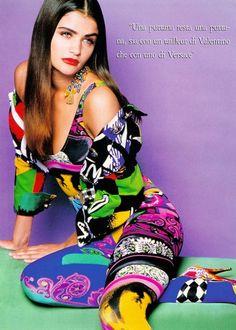 """""""Lo Chiv E Volgare"""", Moda Italia, April 1991Model : Helena Christensen"""