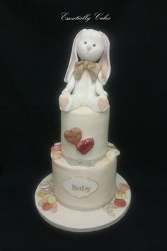Bunny baby shower - cake by Essentially Cakes