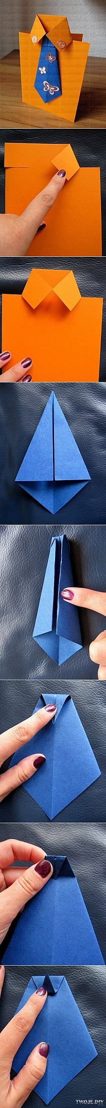 Easy tutorial for shirt and tie card