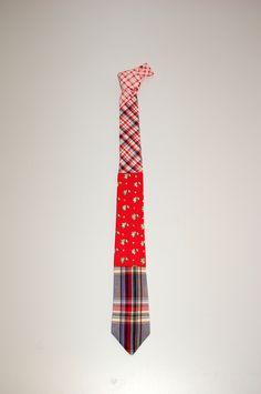 Red Cuadro Tie by Borku