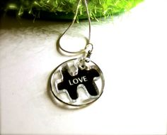 Jig Saw Puzzle Pendant - Love by etchythings on Etsy