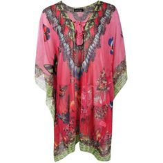 Boohoo Mia Butterfly Embellished Multi Pack Kaftan | Boohoo ($35) ❤ liked on Polyvore featuring tops, tunics, butterfly tunic, kaftan tunic, butterfly print top, caftan top and butterfly top