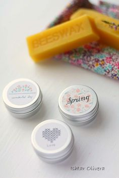 Homemade Natural Lipbalm. These would be cute in little birthday gift bags!