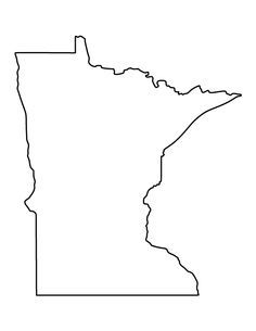 Image result for outline of state of minnesota