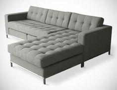 9 by Novogratz Vintage Tufted Sofa Sleeper II Navy Velour Dream House & Decorating