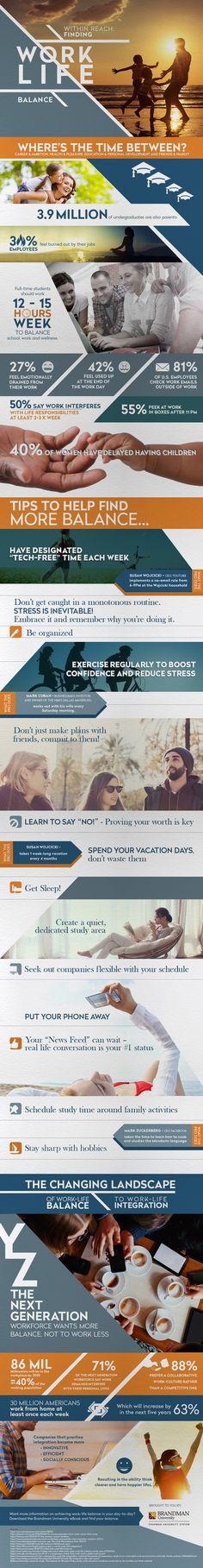 Finding Work-Life Balance Infographic - http://elearninginfographics.com/finding-work-life-balance-infographic/