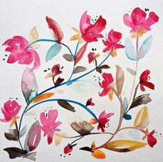 Awaiting the Return: Kiana Mosely - artsy forager #art #watercolor #flowers