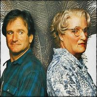 Robin Williams Icon: ☆ Robin ღ Mrs Doubtfire Robin Williams Biography, Mrs Doubtfire, Classic Movies, Best Dad, In Hollywood, Good Movies, Comedians, Actors & Actresses, People