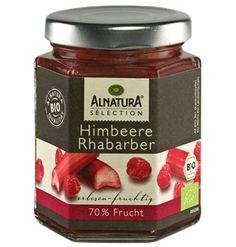 Feinster Himbeere- #Rhabarber- Fruchtaufstrich von #Alnatura Sélection