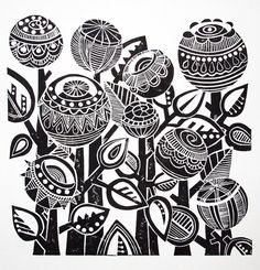 Hey, I found this really awesome Etsy listing at http://www.etsy.com/listing/117345958/night-garden-lino-print