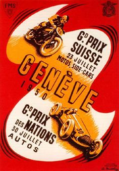 F1 1950 - Extra-championship - Swiss GP - Geneve - Poster