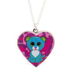 Ty Beanie Boos Leona the Leopard Heart Locket Pendant Necklace Beanie Boo Party, Ty Beanie Boos, Beanie Babies, Little Girl Jewelry, Kids Jewelry, Beanie Boo Birthdays, Ty Animals, Ty Toys, Baby Doll Nursery