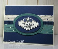 Hi Stampers, Today we will be starting a masculine card series of (3) cards using the Truly Tailored stamp set. We will be using a lot of the items listed in the Occasions catalog on page 44-45 . True Gentleman Designer Series Paper – 145593 Night Of Navy 3/8″ (1 Cm) Corduroy Ribbon – 145597 …