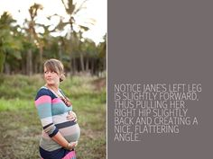An easy how-to guide to taking flattering maternity pictures via http://digital-photography-school.com
