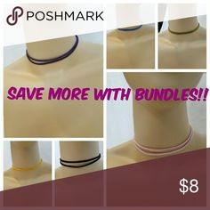 ????JUST IN???? Colored Faux Suede chokers Add a little color with these chokers! Price is firm unless bundled. In brand. Listed as Free People for exposure. No tags. Comes in packaging. Free People Jewelry Necklaces
