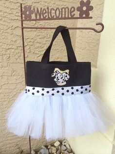 Black and White Dalmatian Tutu Bag - Dance Bag - Ballet Tutu Bag on Etsy d66a3015d15a6