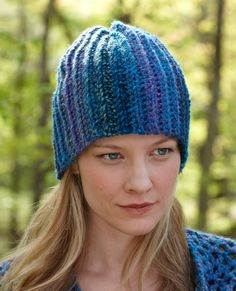 Blue Tweed Hat Pattern (Crochet)