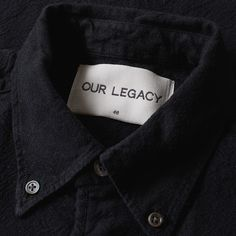Inspired by the nostalgic properties typical tourist-wear adopts while worn abroad, Our Legacy's Everyman collection delivers an array of basics, considerately conceived and excellently executed for everyday wear. The 1950s Button Down Shirt returns in the mid-weight Portuguese fabric. The cotton construction is complete with a single chest pocket, contrast buttons and button down collar.  100% Cotton Mid-Weight Black Denim Fabric Origin Portugal Button Down Collar Contrast Buttons Single…